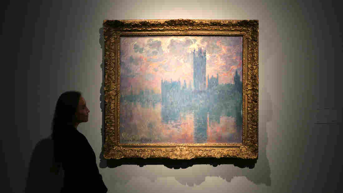 Claude Monet's The Houses of Parliament, At Sunset was part of a series of at least 19 paintings Monet began during stays in London in 1899 and 1900, all from the same perspective, but in different weather and at different times of day.