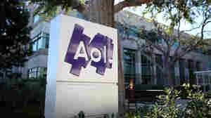 The AOL logo is posted on a sign in front of the AOL Inc. offices in Palo Alto, California.