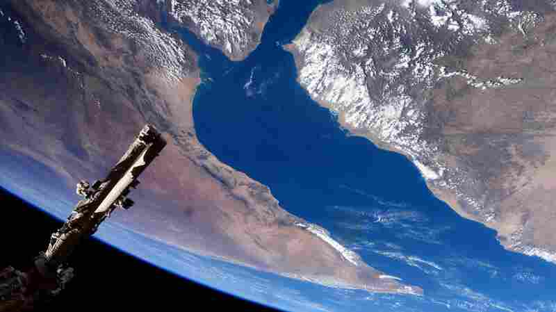 The Gulf of Aden and the Horn of Africa as seen from the International Space Station.
