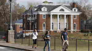 The Phi Kappa Psi fraternity house at the University of Virginia in Charlottesville, Va. That fraternity was implicated in a now discredited Rolling Stone story about a rape on campus. A dean named in the piece is suing the magazine for $7.85 million. Phi Kappa Psi says it will also sue the magazine.