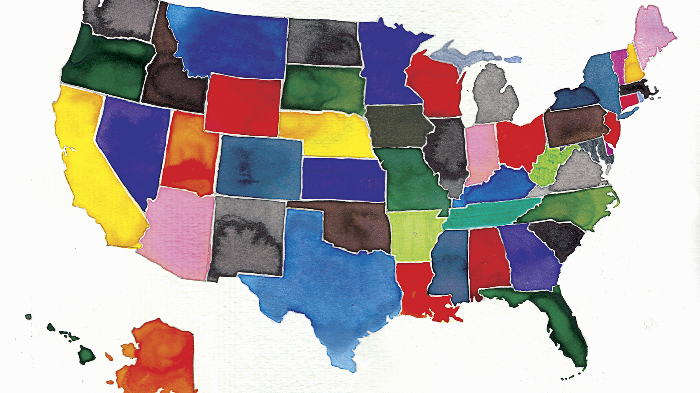 Us Map Funny.Do We Talk Funny 51 American Colloquialisms Npr History Dept Npr