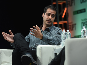 Kayvon Beykpour, co-founder and CEO of Periscope, speaks during the TechCrunch Disrupt conference May 5 in New York City. He says that with live video apps such as Periscope,