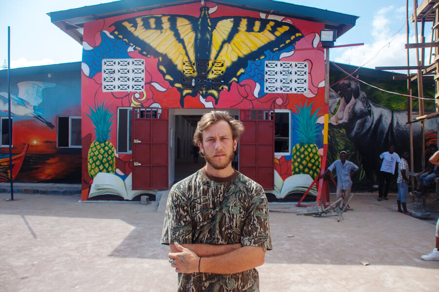 Baltimore Artist Helps Turn Liberian School Into A Mural ...