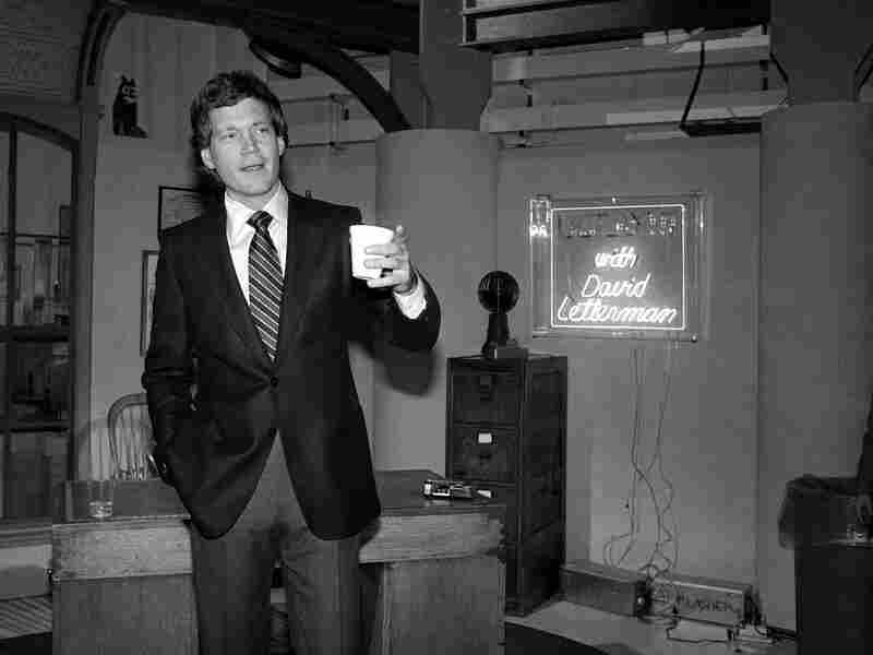 A young Letterman in NBC's Studio 6A in January of 1982, at a reception marking the launch of the new Late Night with David Letterman. He moved to CBS' Late Show in 1993.