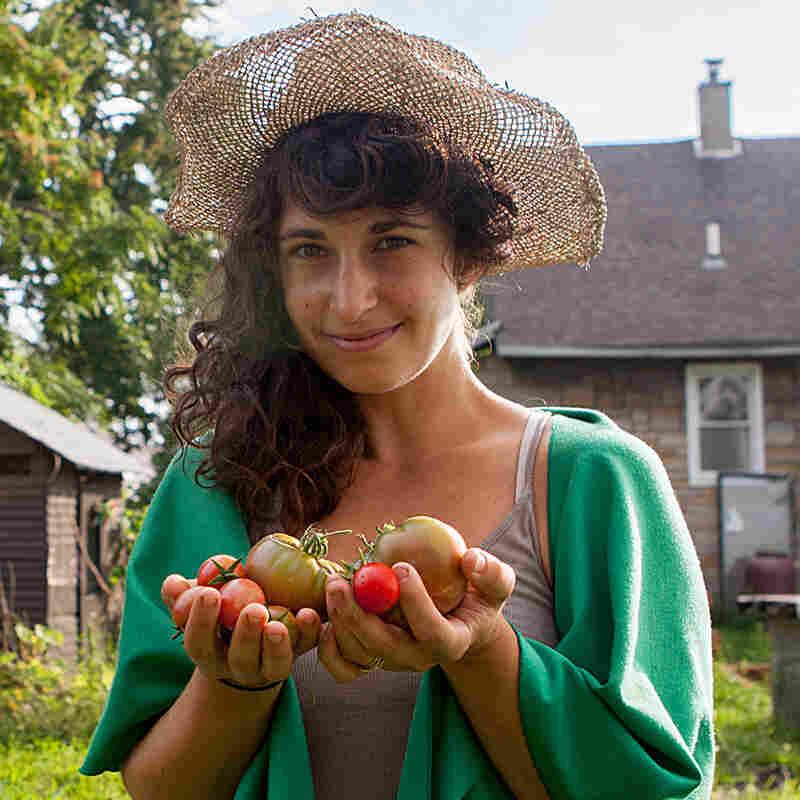 Artist and urban farmer Kate Daughdrill