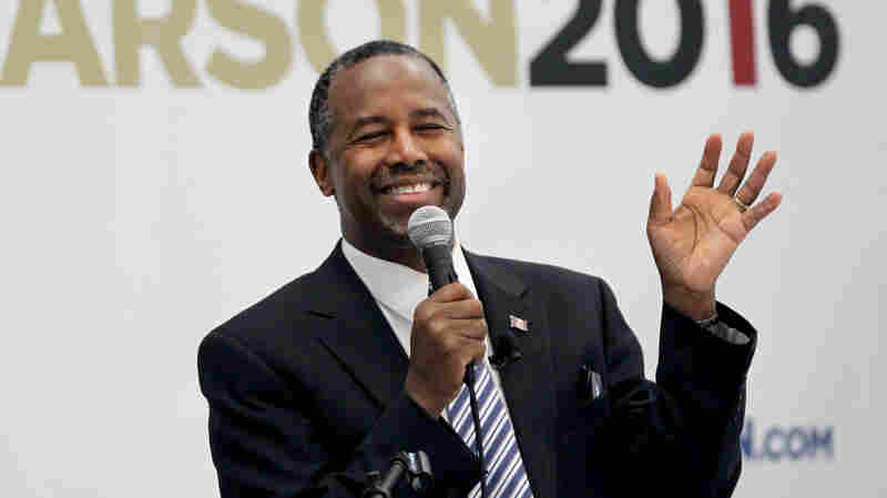 Ben Carson, seen speaking in the early presidential nominating state of New Hampshire, is the latest Republican to vault to the top of a primary poll.