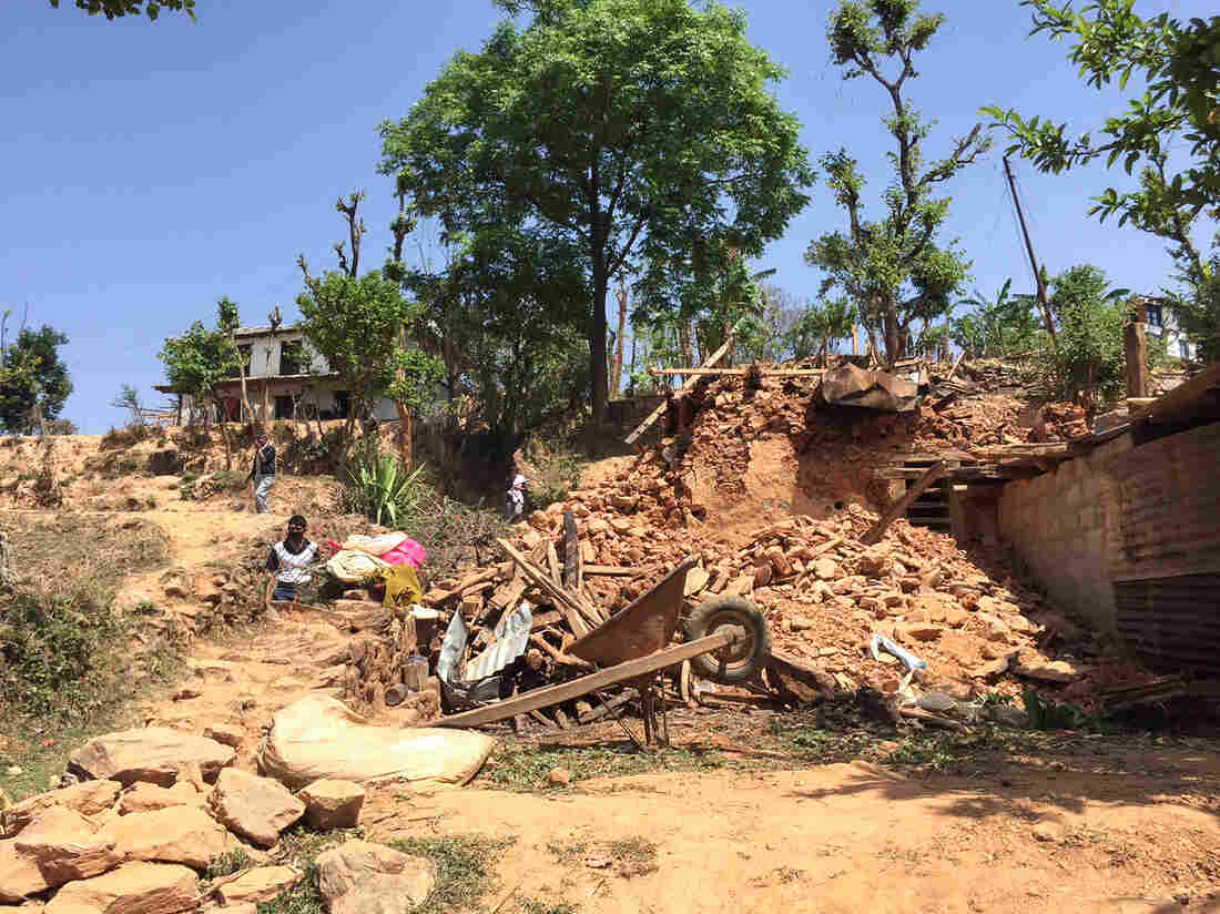 Quake damage has been severe in districts such as Sindhupalchok.