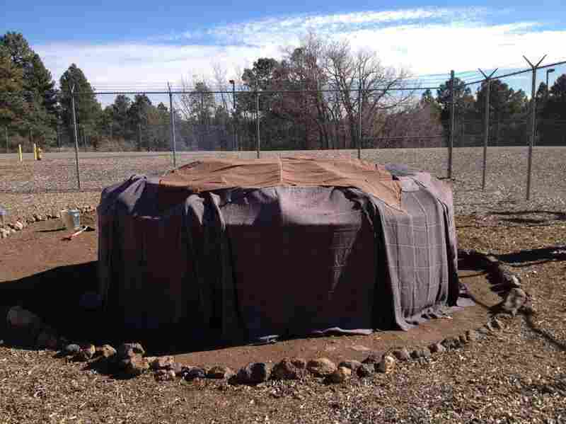 The sweat lodge at the Coconino County jail is one way inmates have to work toward recovery.