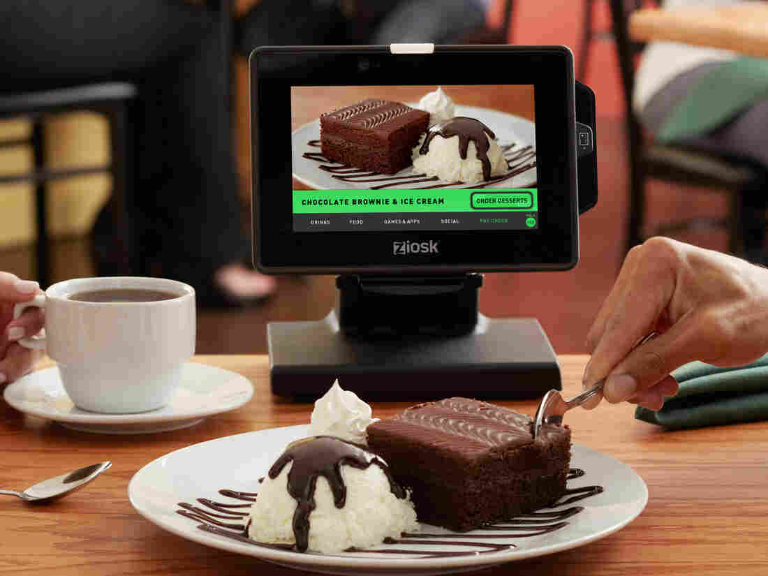 It's less embarrassing ordering that brownie from here than from a person.