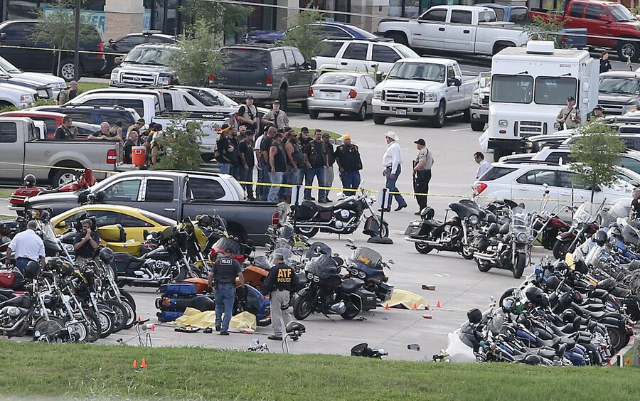 Bikers Waco Texas Authorities investigate a