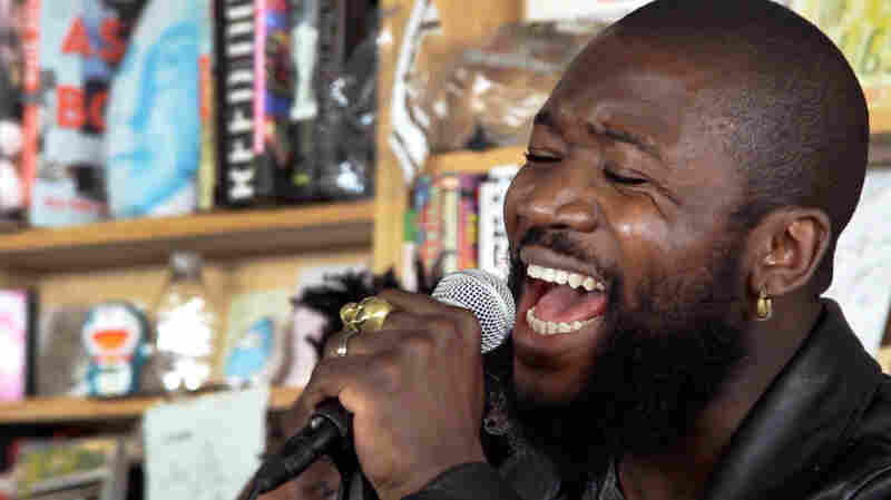 Alloysious Massaquoi, from the band Young Fathers, performs a Tiny Desk Concert.