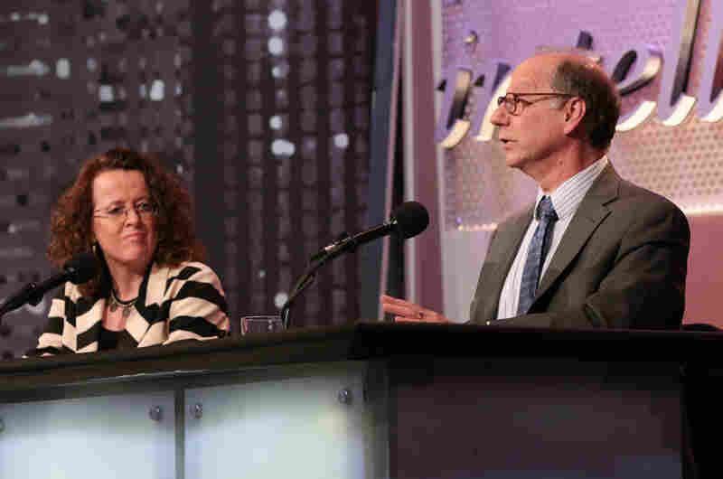 Genevieve Bell, an anthropologist and vice president at Intel Corp., with teammate David Weinberger, senior researcher at the Berkman Center for Internet & Society at Harvard University.