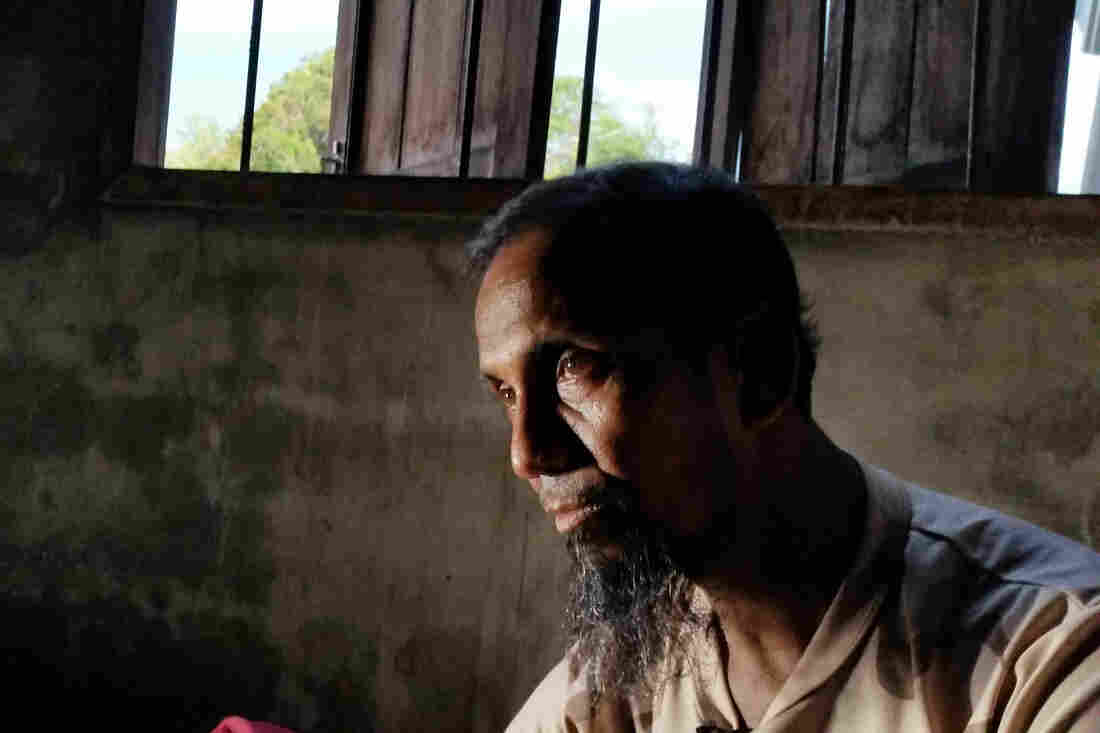 """Abu Talet is a 50-year-old Rohingya who fled Myanmar and escaped from his captors after his boat landed in southern Thailand. In Myanmar, he says he felt like """"a prisoner in my own home. I never knew when they would come for me."""""""