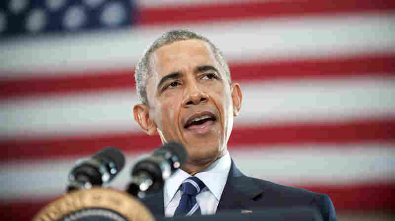 President Barack Obama speaks at the Ray & Joan Kroc Corps Community Center on Monday in Camden, N.J.