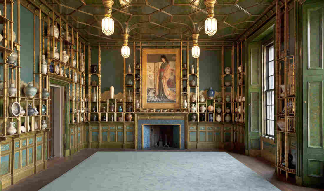 James McNeill Whistler lavishly decorated the Peacock Room — an actual London dining room — for shipping magnate Frederick Leyland in 1876.