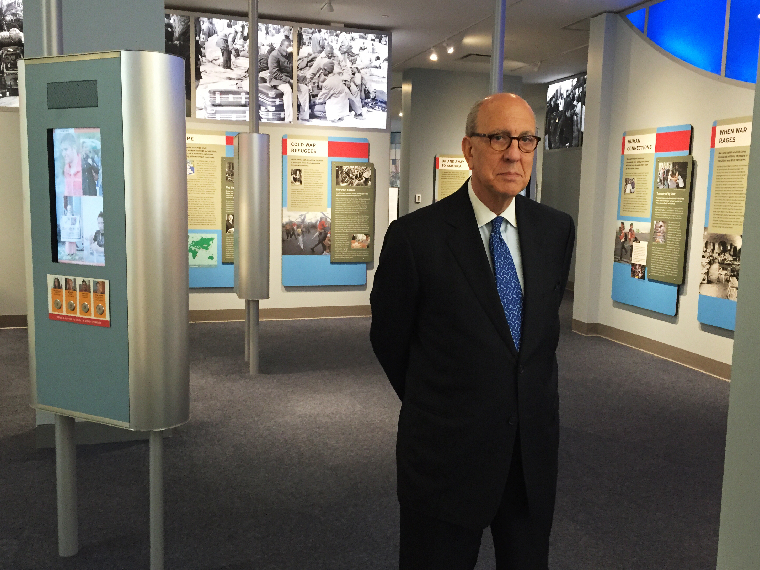 Stephen Briganti, president and CEO of the Statue of Liberty-Ellis Island Foundation, led the restoration of the island's main building. His mother and grandparents emigrated from Italy and passed through Ellis Island.The Ellis Island National Immigration Museum is housed inside the island's main building, where 12 million immigrants were processed between 1892 and 1954.Stephen Briganti, president and CEO of the Statue of Liberty-Ellis Island Foundation, led the restoration of the island's main building. His mother and grandparents emigrated from Italy and passed through Ellis Island.The Ellis Island National Immigration Museum is housed inside the island's main building, where 12 million immigrants were processed between 1892 and 1954.