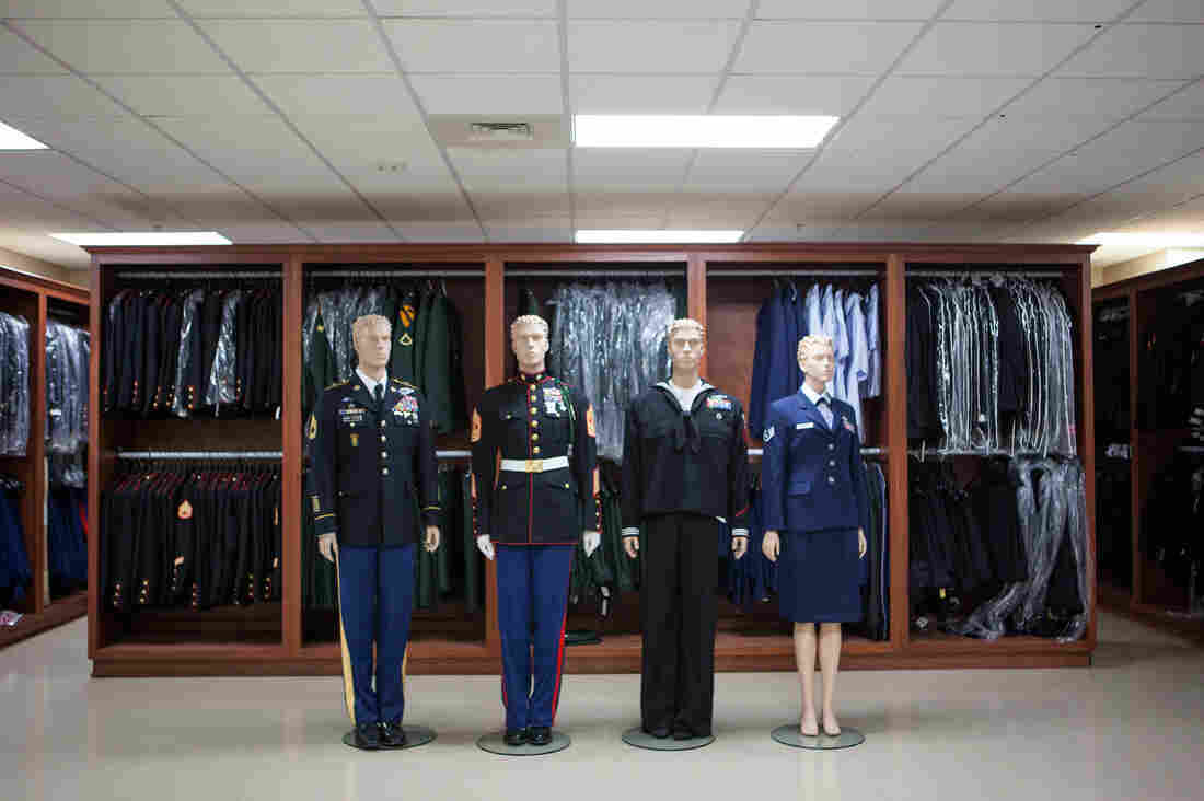 Uniform Preparation, where uniforms are prepared to be placed on the remains of the deceased. Families have the option to bury their loved ones in a military uniform, or in civilian clothing.