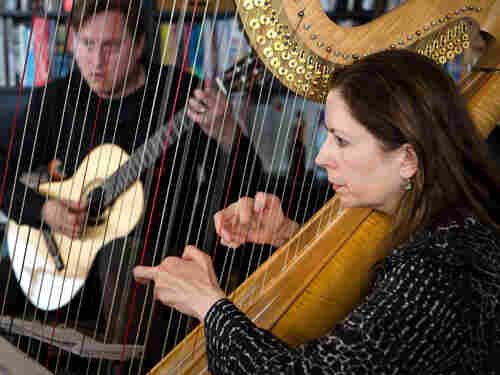 Watch the Grammy-winning guitarist and acclaimed harpist play music influenced by Africa and Asia.