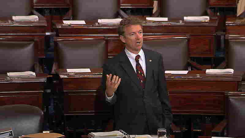 Sen. Rand Paul Stages 'Filibuster' To Protest Patriot Act