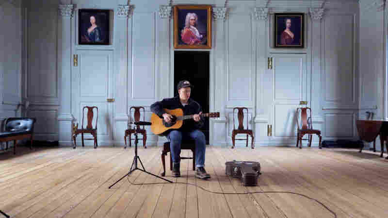 Daniel Bachman performs for a Field Recordings video shoot at Stratford Hall, birthplace of Robert E. Lee in Stratford, Virginia.