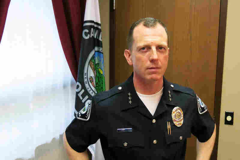 """Camden County Police Chief Scott Thomson says he wants his officers to think of themselves more like the Peace Corps and less like a military force. President Obama has called the city """"a symbol of promise for the nation"""" because of the work the police have done to improve relations with residents."""