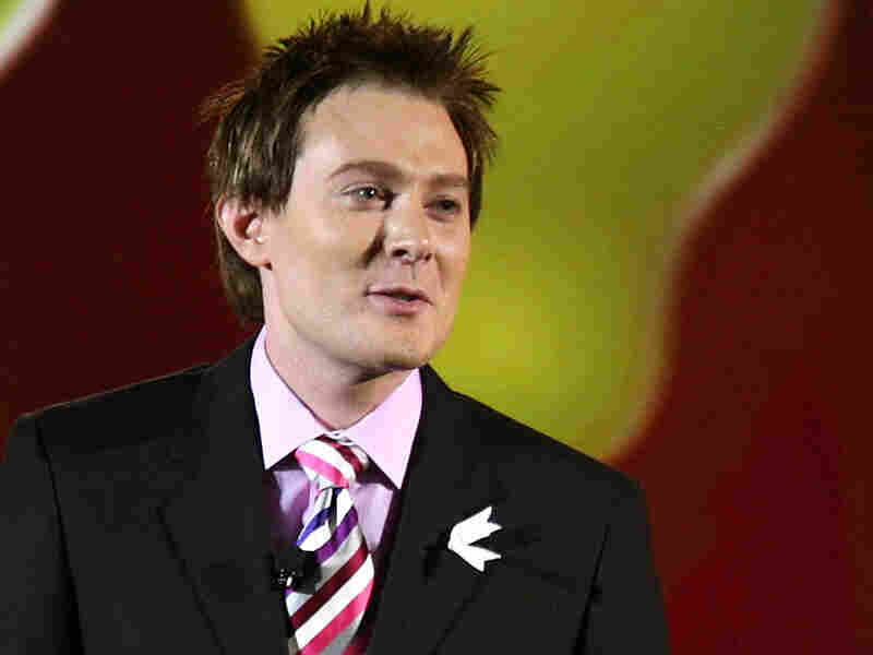 Singer Clay Aiken speaks onstage at the 20th Annual GLAAD Media Awards on March 28, 2009 in New York City.