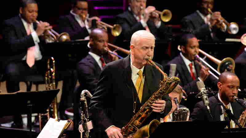 Joe Temperley performs with the Jazz at Lincoln Center Orchestra in 2013.