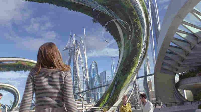 Casey (Britt Robertson) experiences a fantastic futuristic world in Tomorrowland.