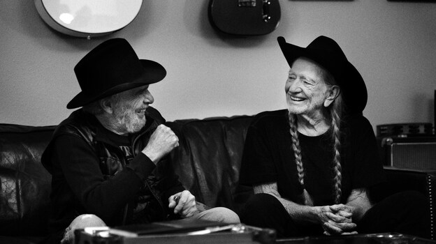 Willie Nelson and Merle Haggard's new album, Django And Jimmie, comes out June 2. (Courtesy of the artist)