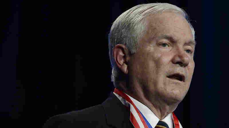 """Former Defense Secretary Robert Gates at the Boy Scouts of America's annual meeting in 2014. """"There's no certainty about any of this,"""" he says of the situation in Iraq."""