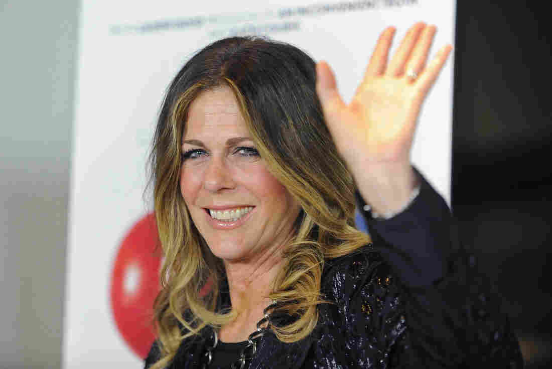 Actress Rita Wilson arrives at the premiere of the documentary Fed Up in West Hollywood, Calif., in May 2014.