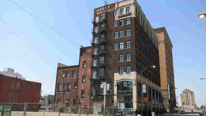 Detroit is attracting entrepreneurs who like the relatively cheap workspaces. But real estate developers like Sean Harrington, who turned the Iodent Building into an apartment complex, are paying the price in property taxes.