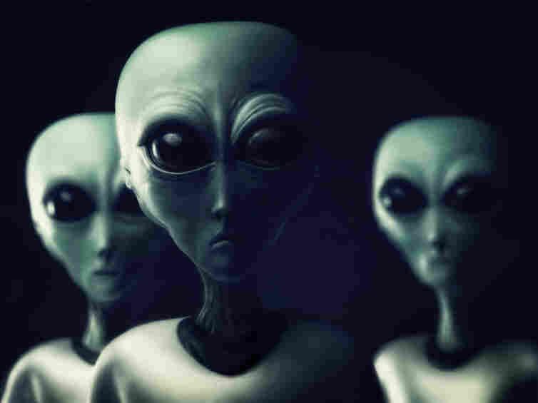 One artist's rendering of imagined alien beings.