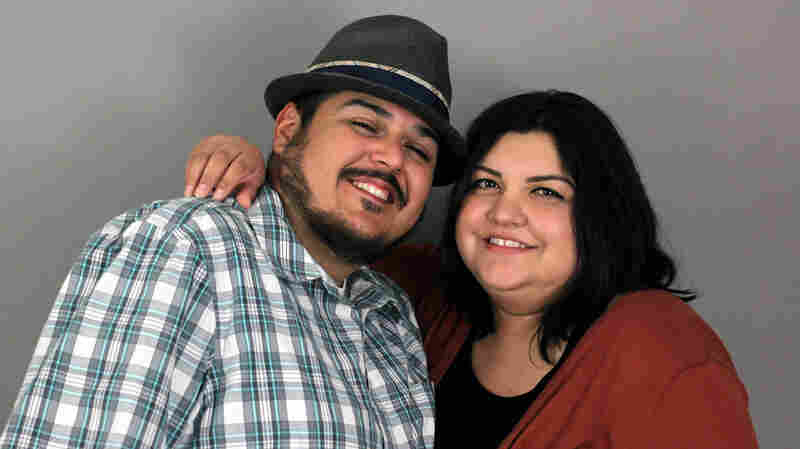 Santiago Arredondo with his wife, Aimee, at StoryCorps.