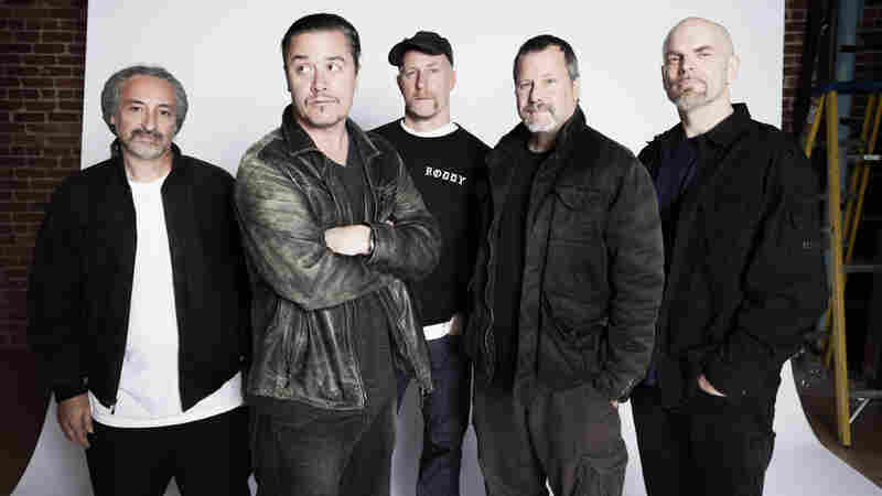 Faith No More (from left): Mike Bordin, Mike Patton, Roddy Bottum, Billy Gould, and Jon Hudson.