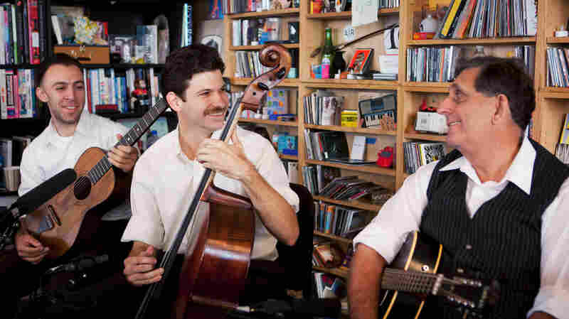 Tiny Desk Concert with Zac Sokolow (left), Frank Fairfield and Tom Marion.