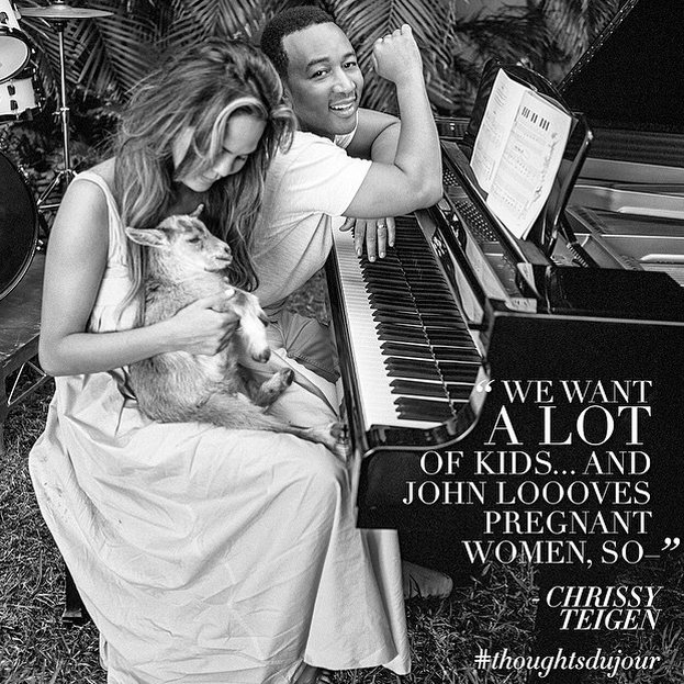 Look Who's Hanging Out With A Goat! It's Supermodel Chrissy Teigen