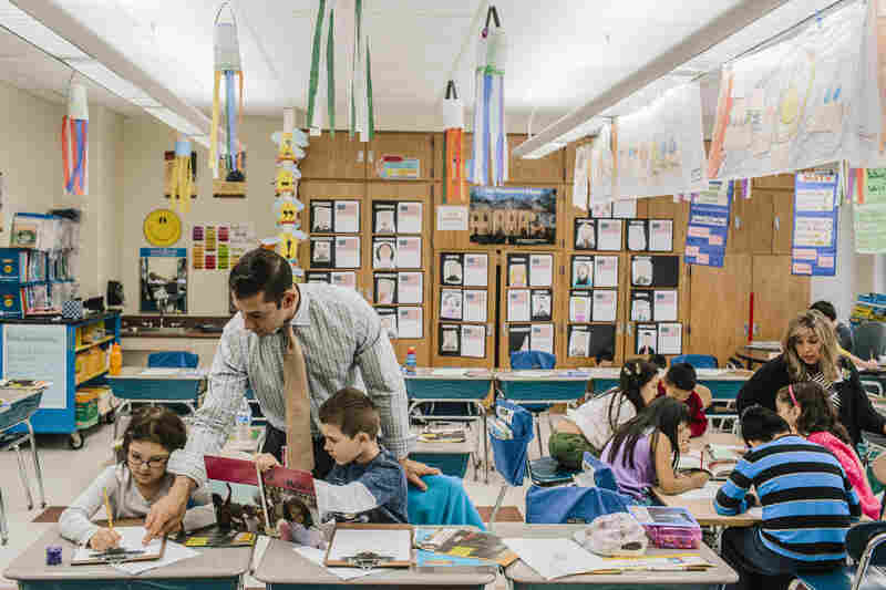 Thomas Whaley teaches second grade at Canaan Elementary in Patchogue, N.Y. Several students in his class are ESL students.