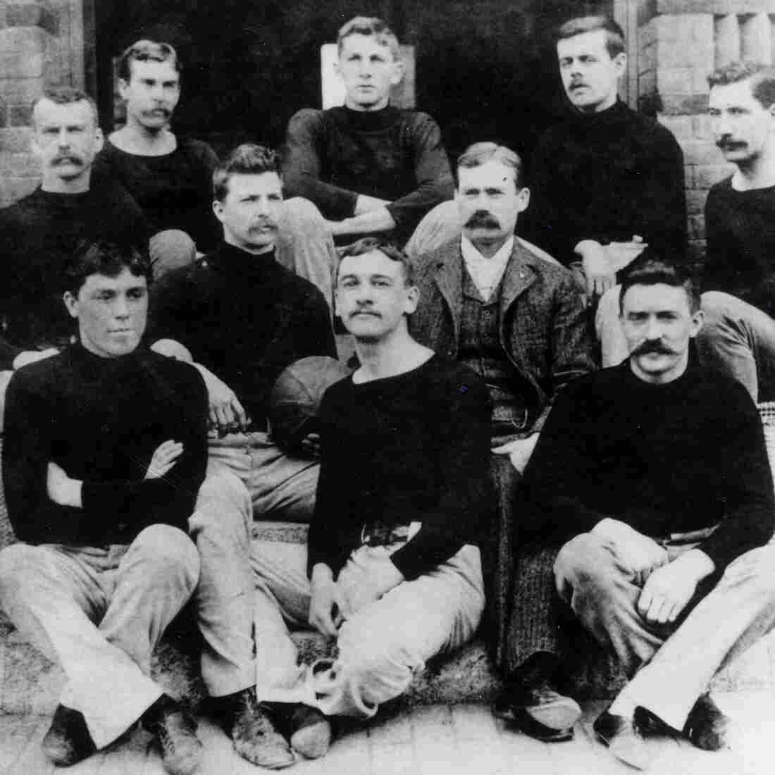 The first known basketball team at the International YMCA Training School in Springfield, Mass., 1892