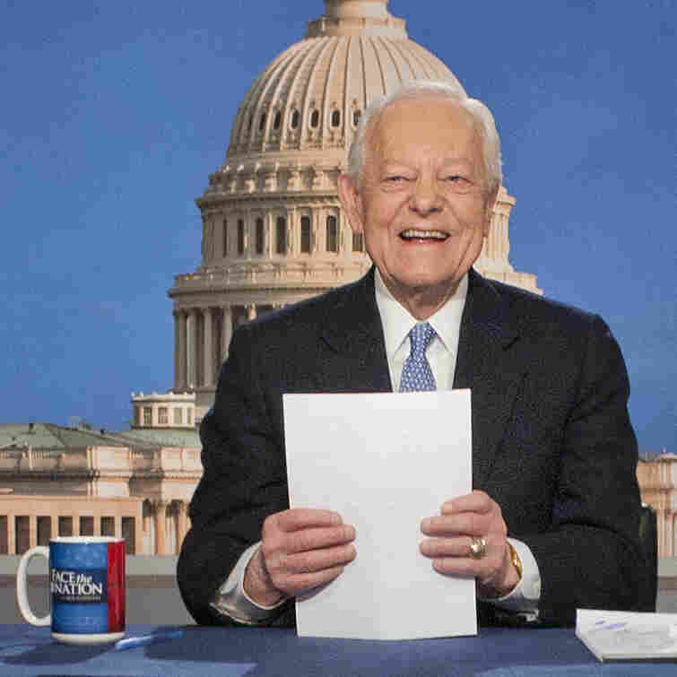Bob Schieffer, shown here in 2013 on the set of Face the Nation, a show he hosted for 24 years.