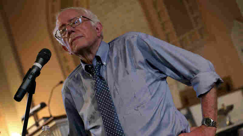 Democratic presidential candidate and U.S. Sen. Bernie Sanders (I-VT) delivers remarks at a town meeting at the South Church May 27, 2015 in Portsmouth, New Hampshire.