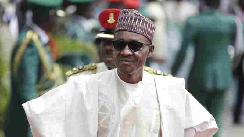 Former General and Nigerian President Muhammadu Buhari, arrives for his Inauguration at the eagle square in Abuja, Nigeria, on Friday.