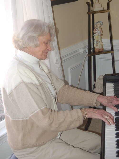 Turning 90 this month, Doris Funderburk Morgan's still got it when it comes to the keys.