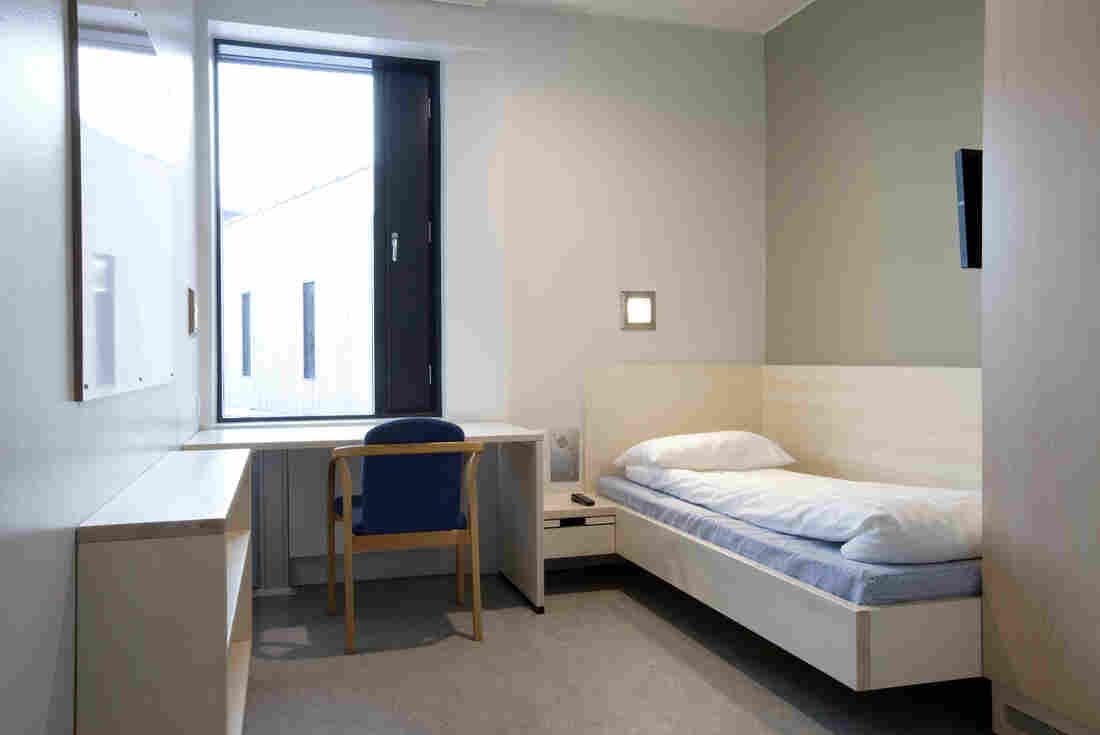 Prisoners at Halden have private rooms, which all have a fridge, desk and flat-screen TV. Inmates who don't follow the rules and attend classes and counseling are sent to conventional prisons.