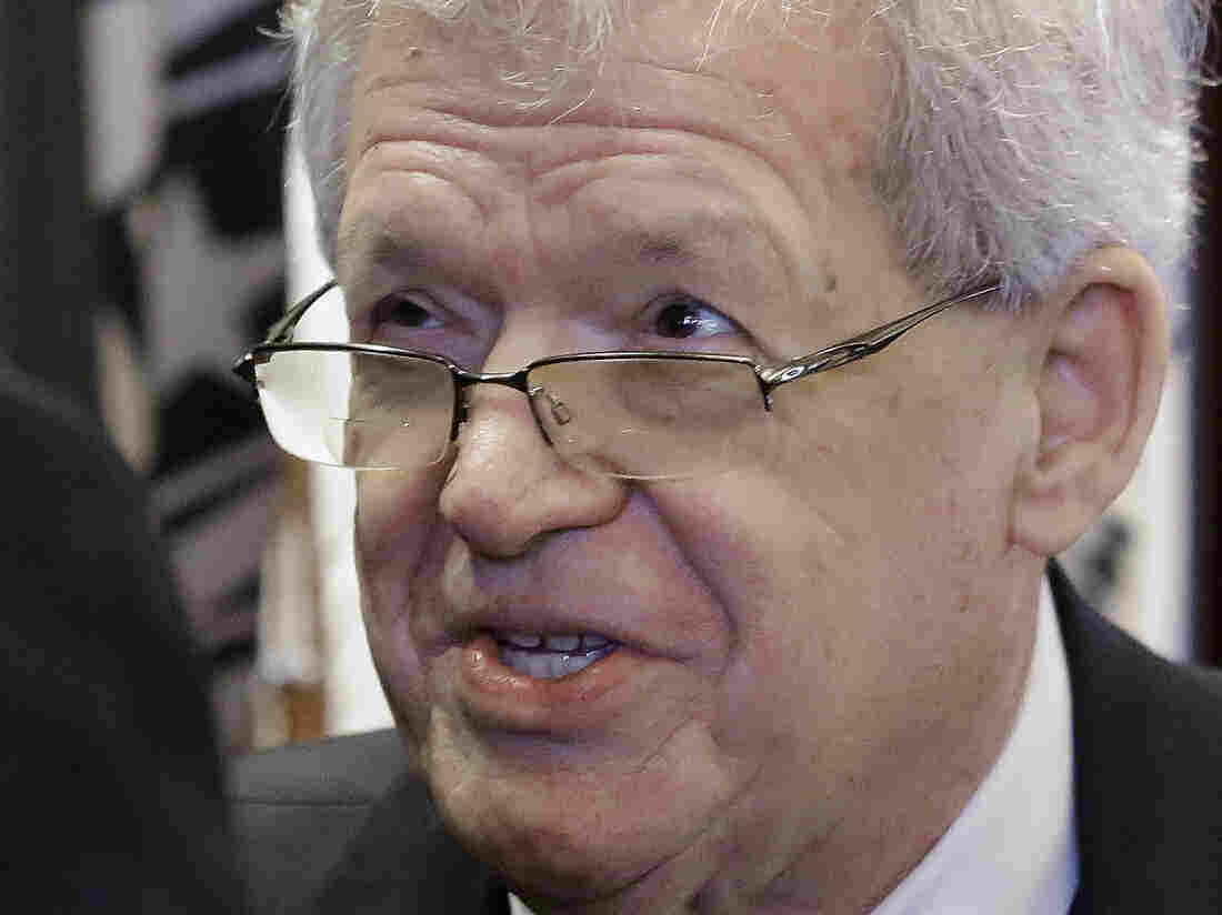 Former U.S. House Speaker Dennis Hastert addresses the Illinois House in 2013. Hastert is due next week to be arraigned on charges of structuring payments to an accuser and lying to the FBI.