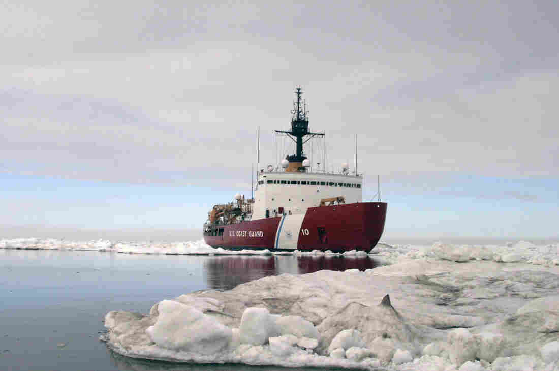 The Polar Star completes ice drills in the Arctic in July 2013. Built in the 1970s and only meant to last 30 years, the vessel is the U.S. Coast Guard's only heavy icebreaker.