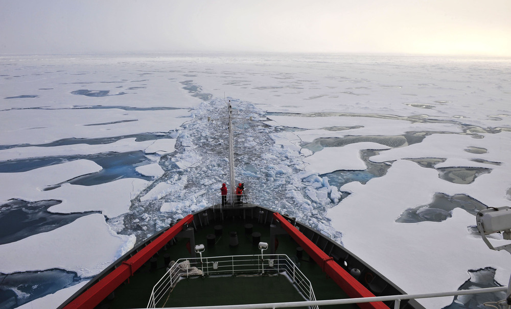 China also has a single icebreaker — Xue Long, or Snow Dragon, shown here sailing in the Arctic Ocean in 2010  — with one more on the way.