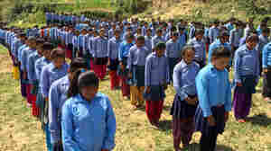 A Moment Of Silence After School Reopens In A Nepali Town