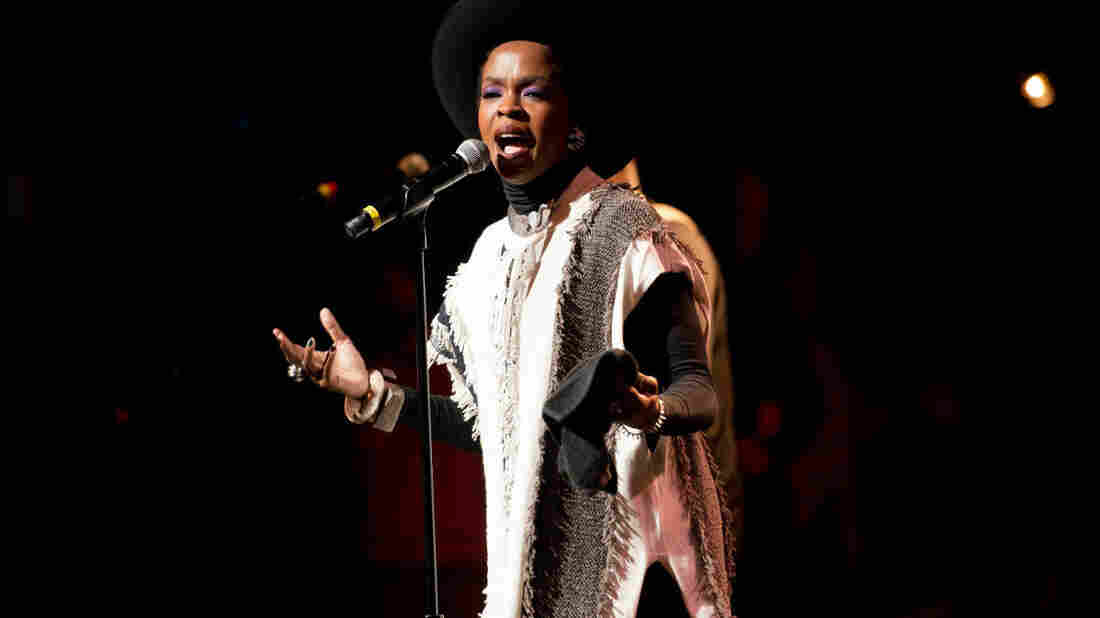 Ms. Lauryn Hill performs at the Apollo Theater in Harlem.