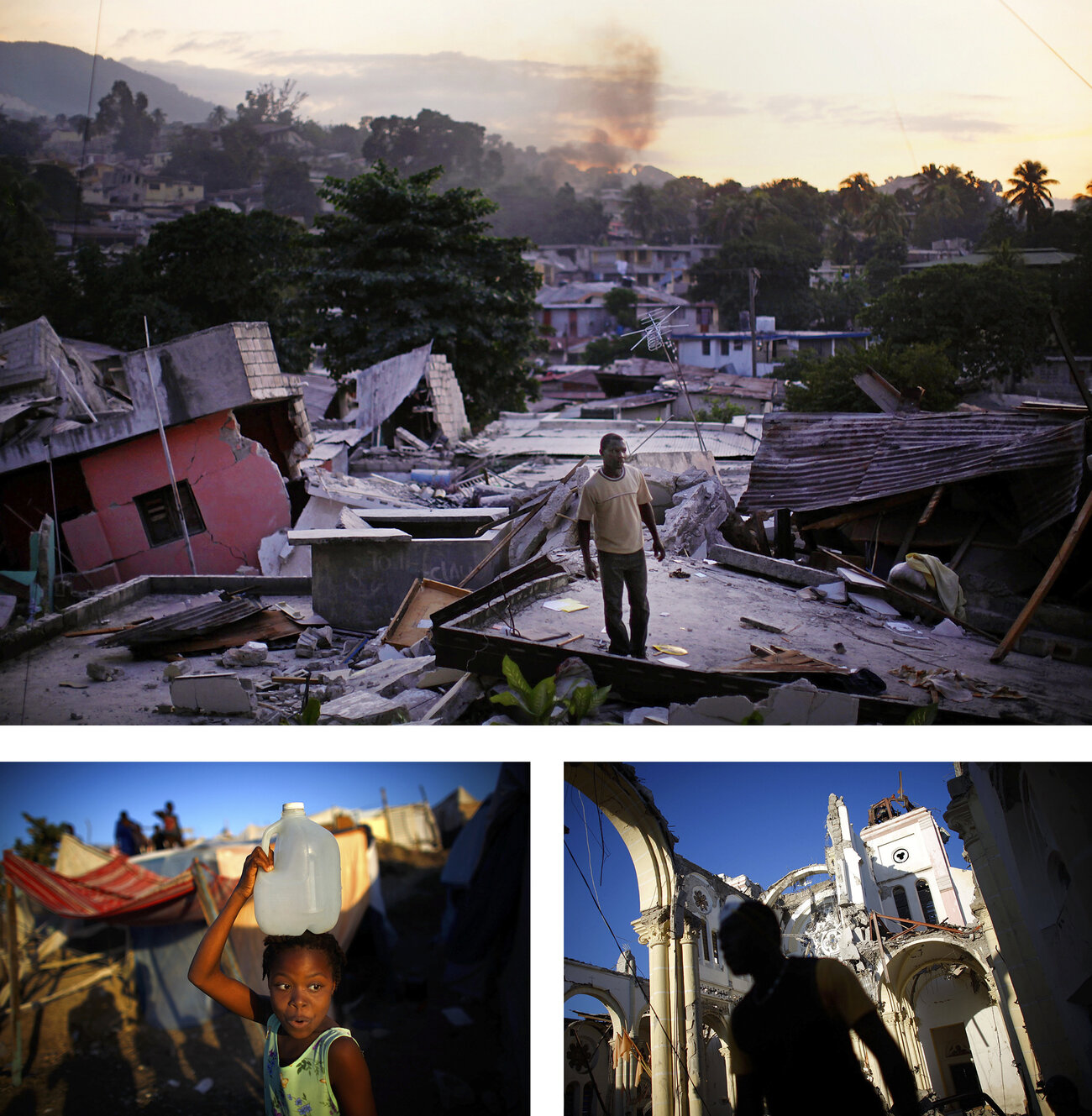 Haiti, just days after a 7.0 magnitude earthquake destroyed much of the country on Jan. 12, 2010. The disaster uprooted many of its residents and killed more than 200,000 people.